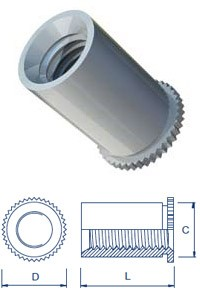 Self Clinch Screw Lock Threaded Standoffs